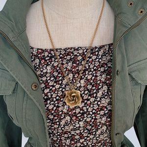 Vintage Gold Floral Necklace